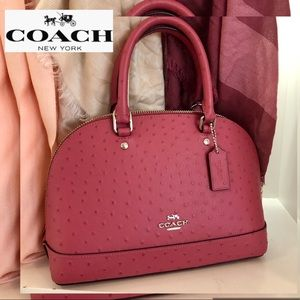 COACH Ostrich Bag Sirra Leather Gorgeous Color